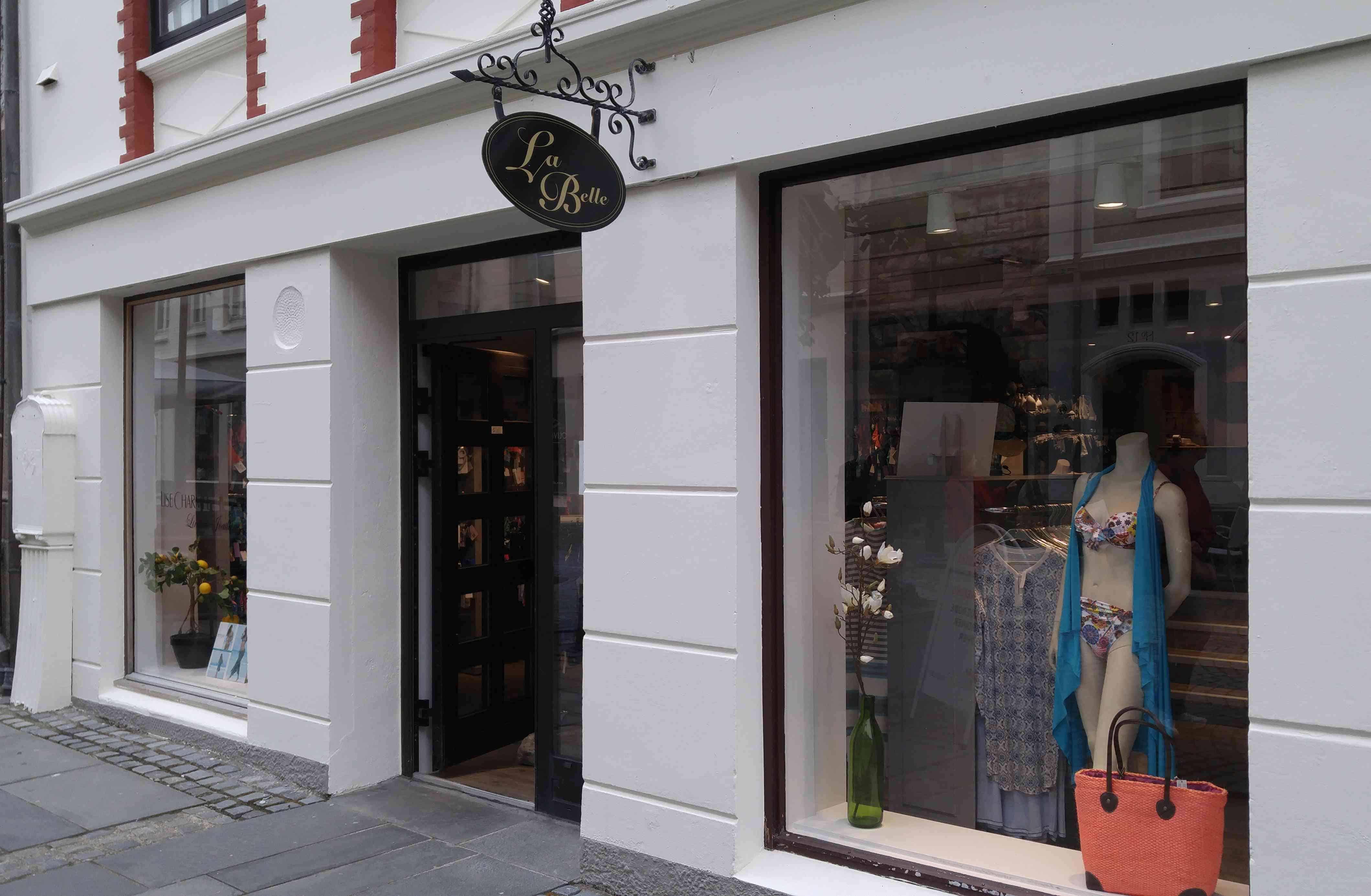 a storefront of la belle, in Alesund, Norway
