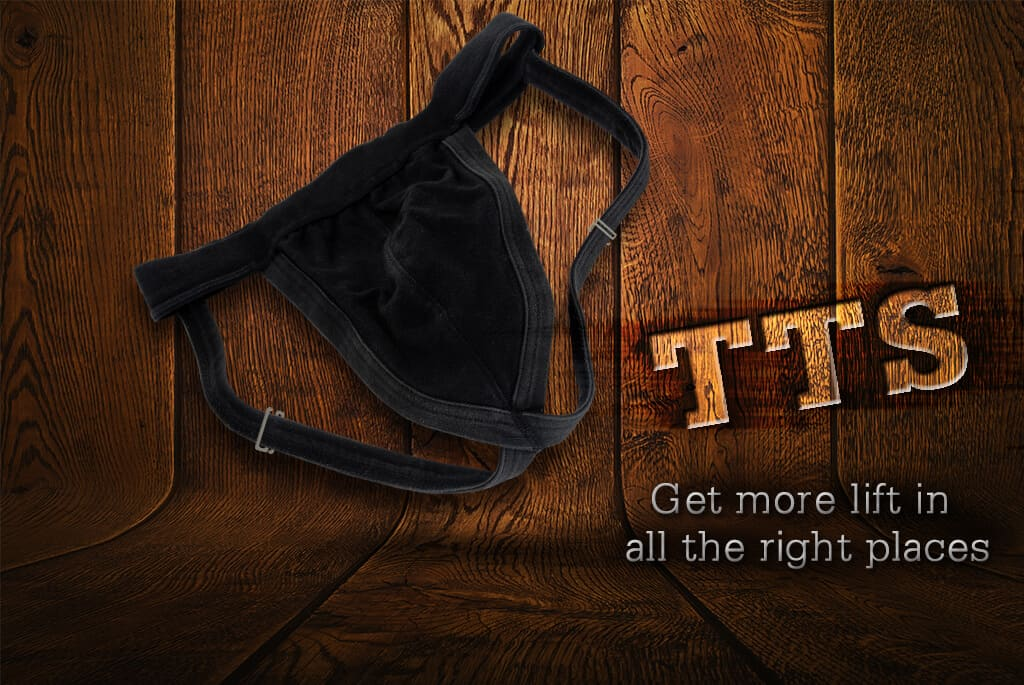 The Testes Saver - Use the Strap Saver on an athletic supporter!