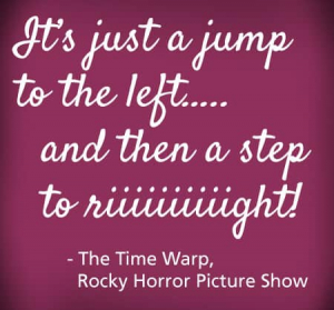 RockyHorror Let's Do the Time Warp Again!